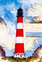Leuchtturm westerhever (3x westerheversand)