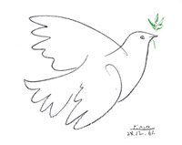 Dove of peace - branch