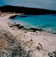 Bonaire, kust met ruine's