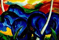 Die grossen blauen pferde, 1911