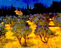 Olive grove chianti
