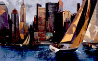Sailboats in manhatten I